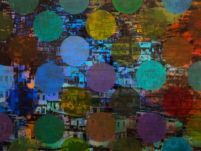 Sarah Nind, 'Pistes et Points - Carnival 2', 2015
