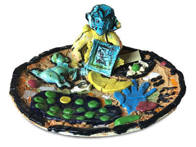 Viola Frey, 'Monkey Platter', 1988