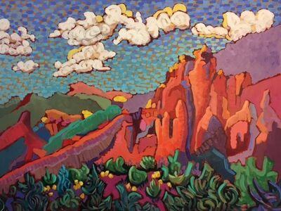 "Claudia Hartley, '""Rugged Desert Mountain (Lake Bartlett)""', 2016"
