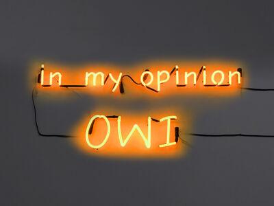 Esmeralda Kosmatopoulos, 'IMO (In My Opinion)', 2017