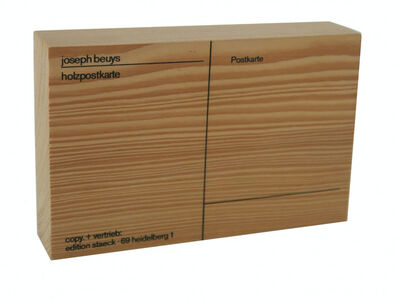 Joseph Beuys, 'Holzpostkarte/ Wooden Postcard, FIRST EDITION ', 1974