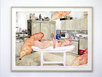 Agus Suwage, 'Fragmen Ruang Makan - After Egon Schiele', 2017