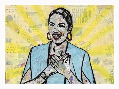 Amy Smith, 'AOC (2/20) - Contemporary Political Portrait ', 2020