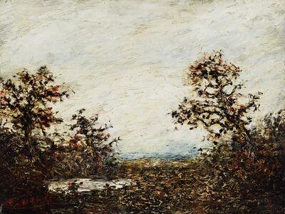 Ralph Albert Blakelock, 'Landscape with White Sky ', Date Unknown