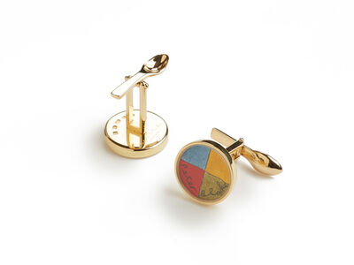 Peter Blake, 'Colour Wheel Cufflinks', 2008