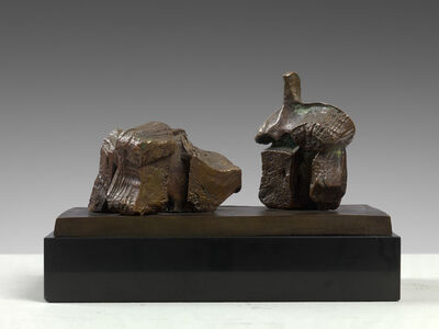 Henry Moore, 'Two Piece Reclining Figure: Maquette No. 1', 1960