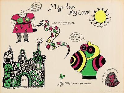 Niki de Saint Phalle, 'My love where shall we make love?andMy love where shall we meet again?', ca. 1969