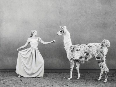 Tyler Shields, 'The Princess and the Llama', 2015