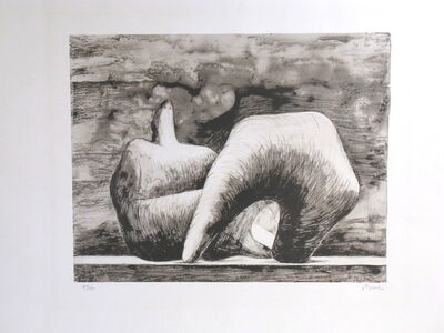 Henry Moore, 'Reclining figure pointed C. 543', 1979