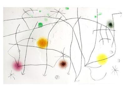 Joan Miró, 'Joan Miro - L'Issue Dérobée I - Original Aquatint ', 1974