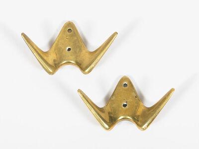 Carl Auböck, 'Brass Wall Hooks', 1950