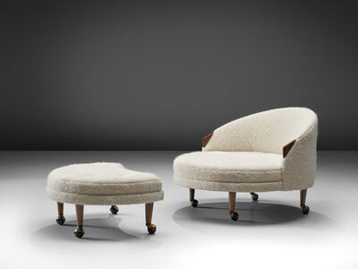 Adrian Pearsall, ''Havana' lounge chair and ottoman', ca. 1960s