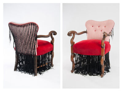 Sonya Clark, 'Cornrow Chair', 2011