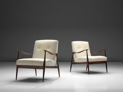 Giuseppe Scapinelli, 'Pair of Sculptural 'Paltrona' Lounge Chairs', 1950s