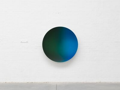 Anish Kapoor, 'Glisten (Green Black mix to Oriental Blue satin)', 2017