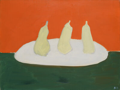 Nicolas de Staël, 'Nature morte, poires, fond vert et orange', 1954