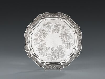 Unknown, 'A Chinese Export Silver Octagonal Salver', Canton-circa 1880