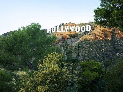 Liu Bolin, 'Hiding in CA, No. 2-Hollywood', 2013
