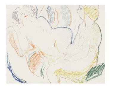 Ernst Ludwig Kirchner, 'Liegender und sitzender weiblicher Akt (Zwei Akte)', ca. 1906