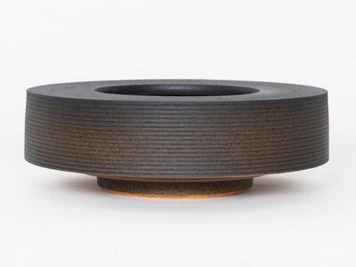 Ian McDonald, 'Soft Stoneware Low Form (Orange/Black)', 2019