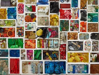Liu Bolin, 'Hiding in the city, Marine Litter, Surfrider 1', 2017