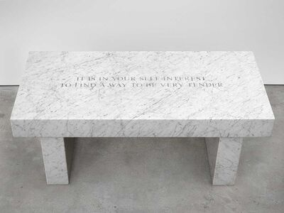 Jenny Holzer, 'Selection from Survival: It is in your self-interest…', 2015