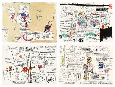 Jean-Michel Basquiat, 'Wolf Sausage, King Brand, Dog Leg Study, And Undiscovered Genius', 1982/2019