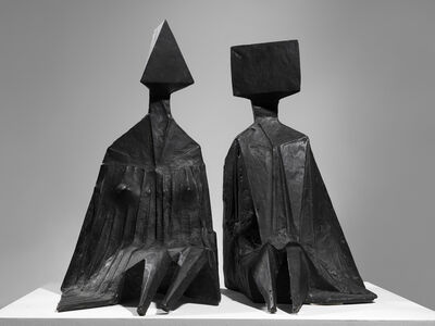Lynn Chadwick, 'Pair of Sitting Figures I', 1973