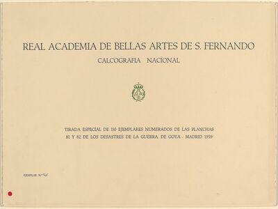 Francisco de Goya, 'La Tauromaquia (The Bullfight)', published 1816