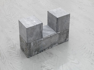 Carl Andre, '2 CUBES ON BLOCK', 2001