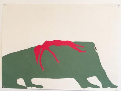 Sandra Meigs, 'Study for Terre Verte. Buffalo Jump. McIntyre Ranch.', 2018