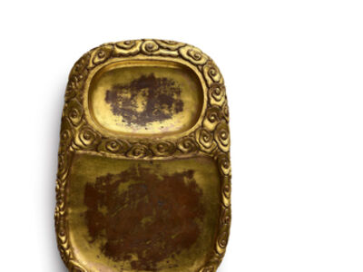 Ming Dynasty, 'An imperial gilt-bronze inkstone', Ming Dynasty-early 15th eentury
