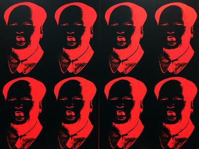 Knowledge Bennett, 'MaoTrump Negative (Fluorescent Red)', 2017