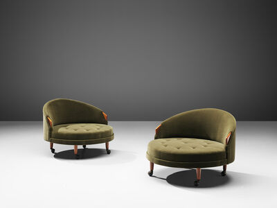 Adrian Pearsall, 'Pair of Reupholstered 'Havana' Chairs', 1960s