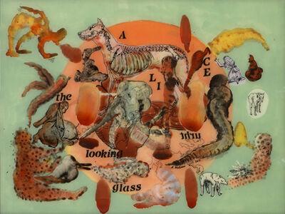 Nalini Malani, 'Alice Thru The Looking Glass (Copper Brain Map)', 2011
