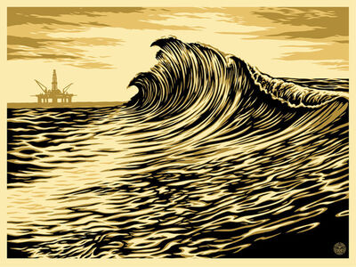Shepard Fairey, 'Water Is The New Black', 2015