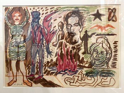 A.R. Penck, 'Die hand in der Grünen Frau (La main chez la Femme Verte)', ca. 1966