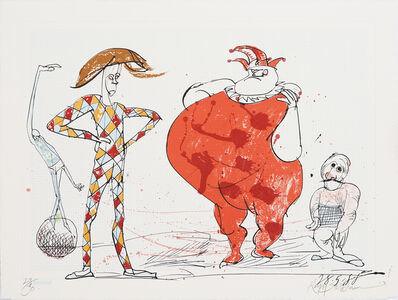 Ralph Steadman, 'Picasso 347 Suite Homage: Harlequin 2', 2015
