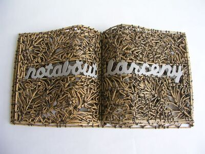 John McQueen, 'Book of Larceny', 2011