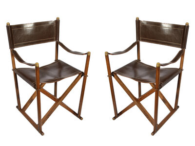 Mogens Koch, 'A pair of Model MK-16 folding chairs', circa 1970s