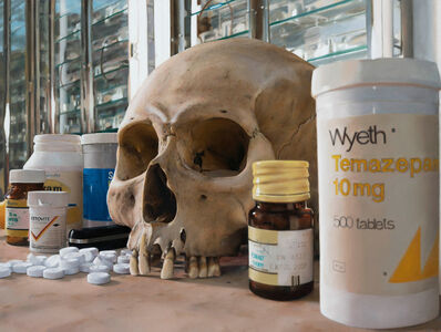 Damien Hirst, 'Skull with pills', 2008