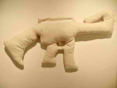 Michèle Colburn, 'Throw Pillow for the NRA'