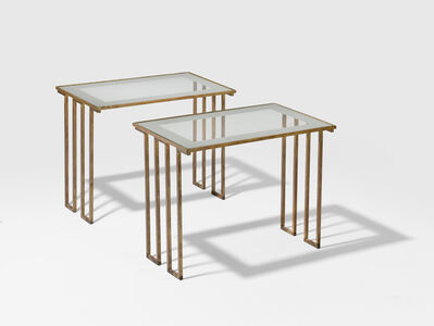 Jean Royère, 'Pair of Dents Grecques side coffee tables', ca. 1955