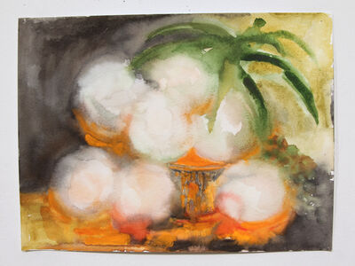 Valerie Hegarty, 'Glowing Peaches in Basket 2', 2015