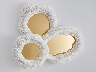 Pia Maria Raeder, ''Sea Anemone' Mirror, includes Three Mirrors colored in Brass', 2017