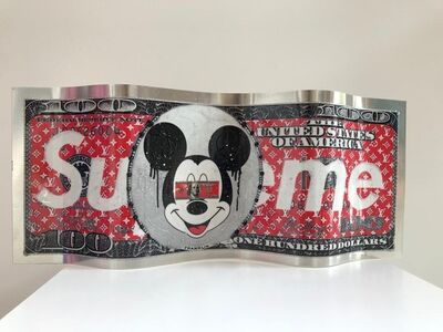 Alain Mimouni, 'Small Mickey Supreme Dollar ', 2019