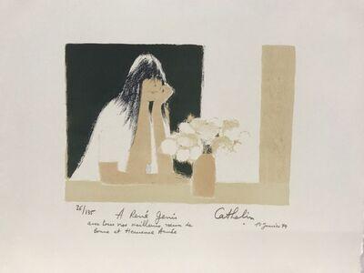 Bernard Cathelin, 'Claudine au casaquin blanc et au bouquet blanc', 1978