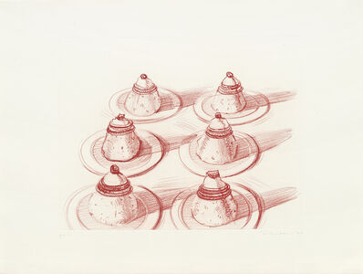 Wayne Thiebaud, 'Six Desserts', 1979
