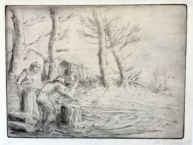 Alphonse Legros, 'Un Charron (The Wheelwright)', ca. 1890