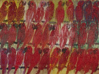 Hunt Slonem, 'Red Lories ', 2018
